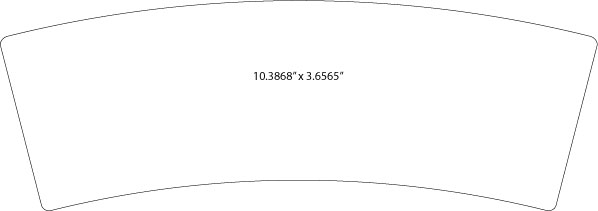 "special shaped dieline 10.3868""x3.6565"""