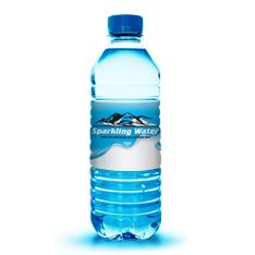 Bottled water labels from Lightning Labels