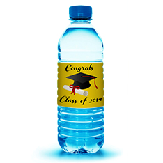 Graduation Water Bottle Labels from Lightning Labels