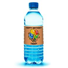 Water Bottle Favors from Lightning Labels